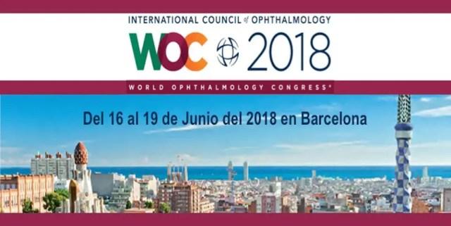 Congreso internacional de oftalmología WOC 2018 Barcelona