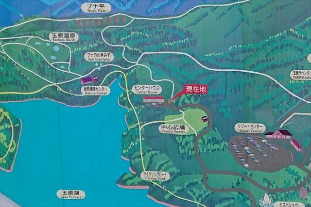 ウッドランドリゾート玉原の案内図