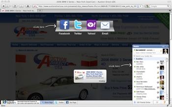 Screenshot von der Meebo Bar (Quelle: TechCrunch)