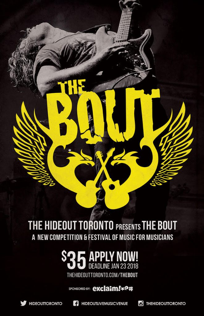 """Toronto Venue the Hideout Launches """"The Bout"""" Battle  the Bands Competition"""