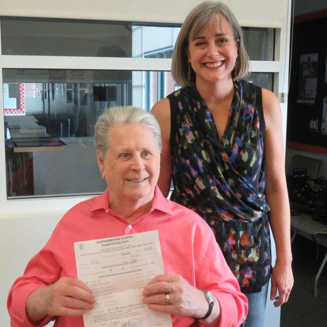 Brian Wilson's Failing High School Music Grade Reversed