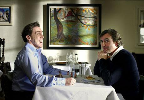 Brydon and Coogan at dinner