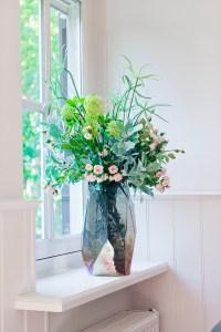 zijden bloemen in vaas