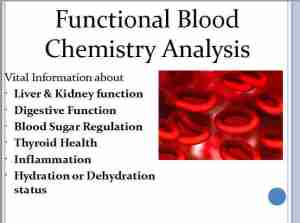 Functional Blood Chemistry Analysis