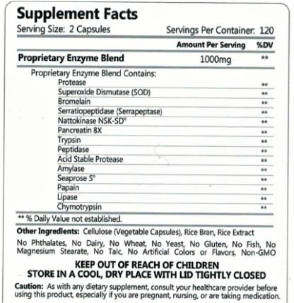 Fibrenza Ingredients