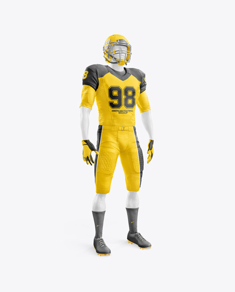 Download American Football Kit Mockup with Mannequin - Half Side ...