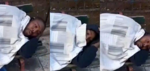 Nigeria Man Sleeping Outside