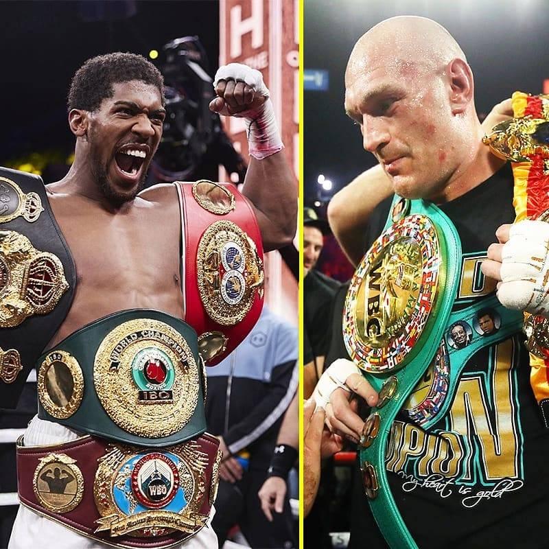 Anthony Joshua and Tyson Fury