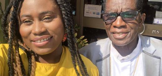 Lydia Forson and his Dad