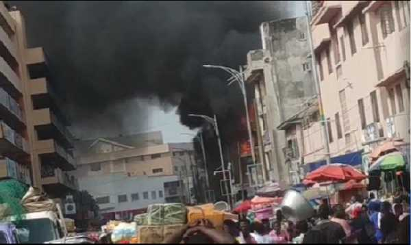 Fire has gutted some parts of the Makola market