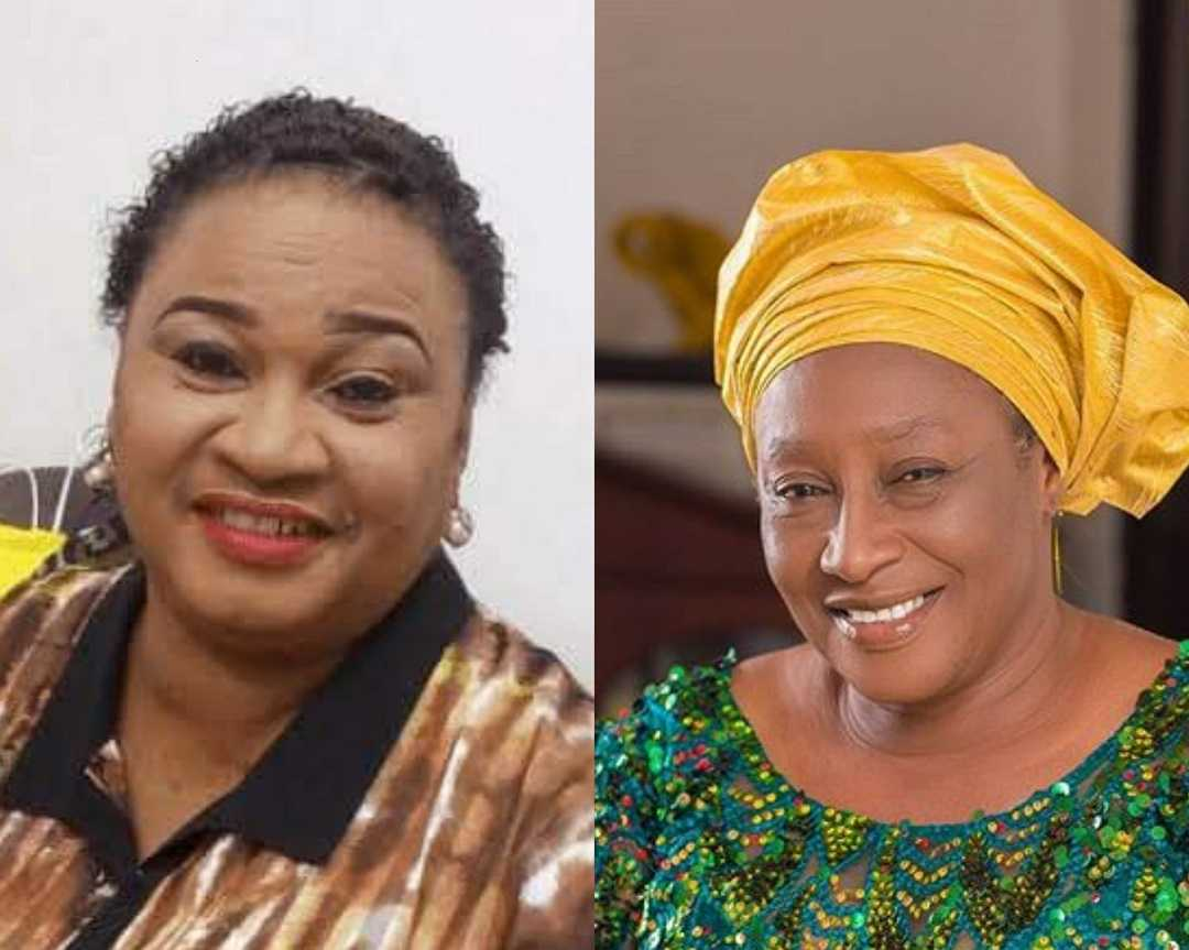 Patience Ozokwo and her Friend, the late nollywood actress Rachel Oniga