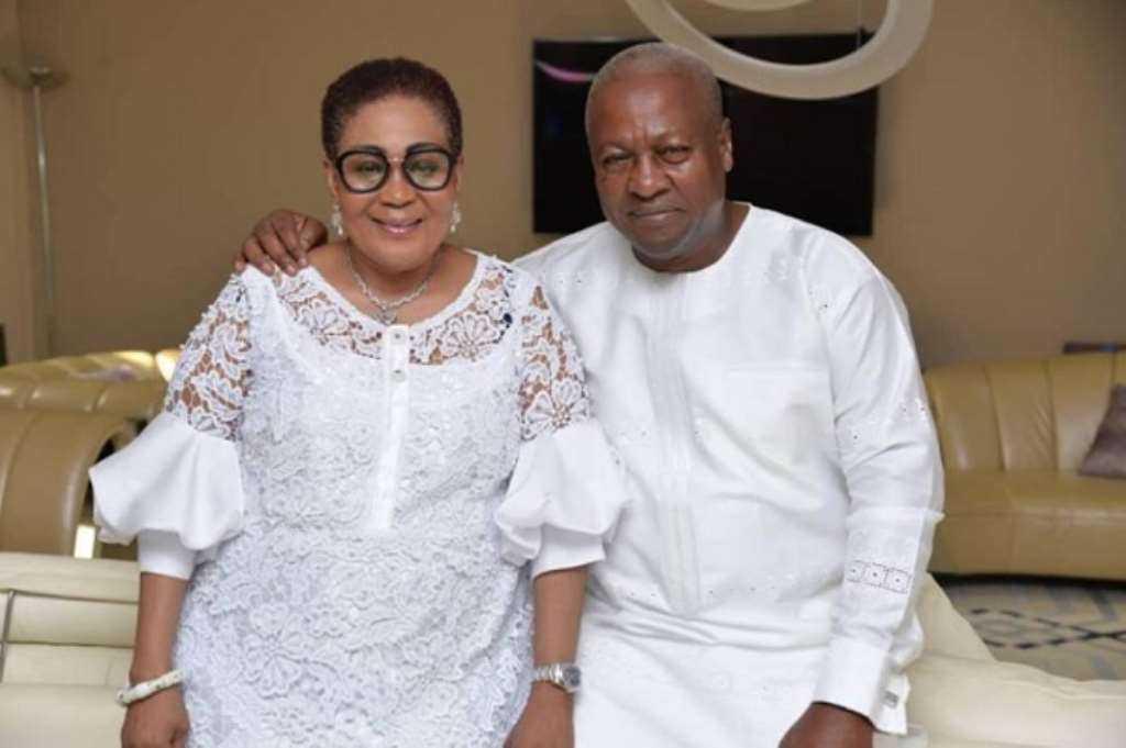 John Dramani Maham with his wife, Lordina Mahama