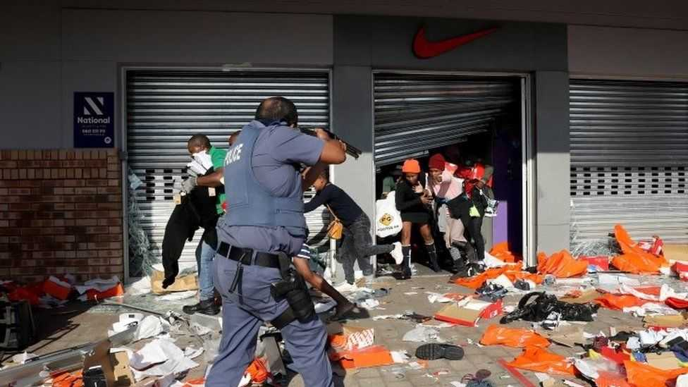 Police have accused people of taking advantage of the unrest