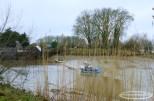Ecluse de la Martinière coté Loire. Le niveau d'eau dépend aussi des marées .