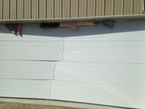 Got to close to the garage door