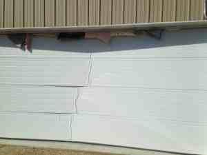 Got to close to the garage door