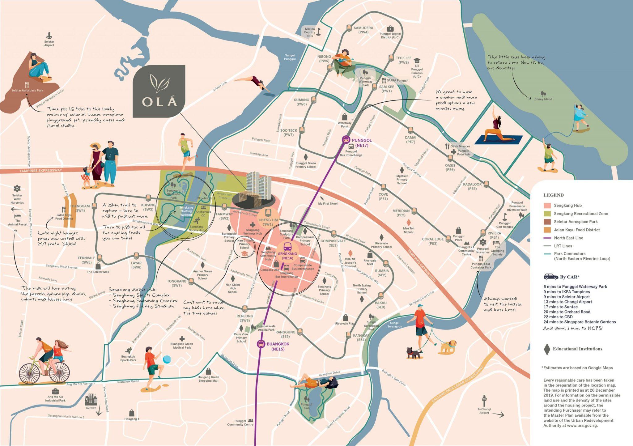 OLA Location Map
