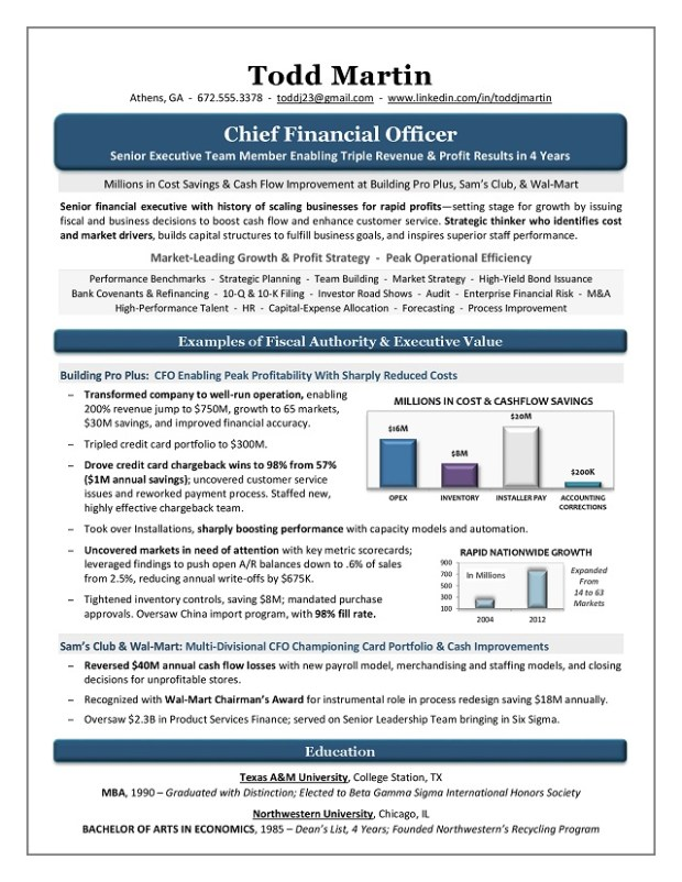 CFO Sample Resume