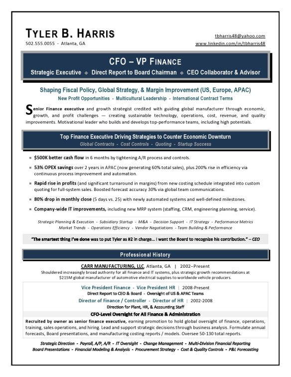 Executive Resume Trends 2018 What Will Make You Stand Out