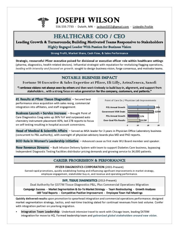 Healthcare COO & CEO Resume - Premium Executive Resume Writing Services