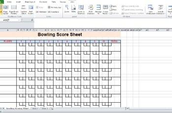 Bowling Score sheet calculator Free 2020
