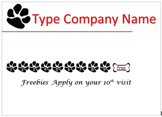 Business Punch Card Template