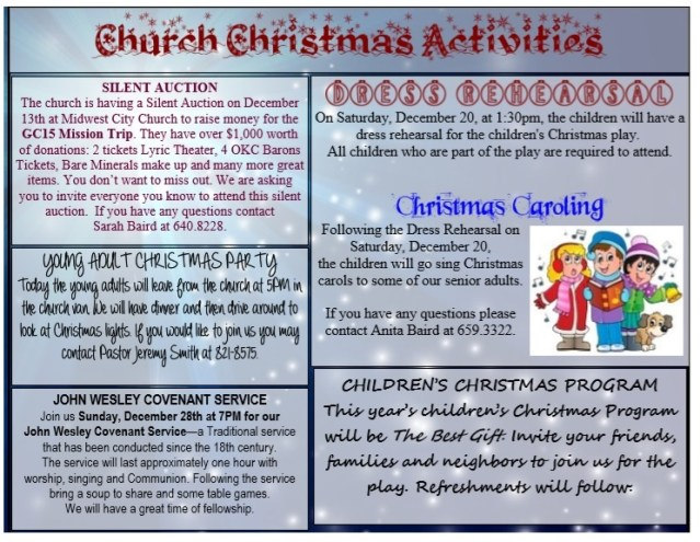 Church Christmas Program Template