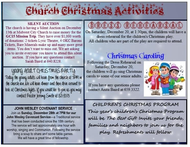 Church Christmas Program Activities Template