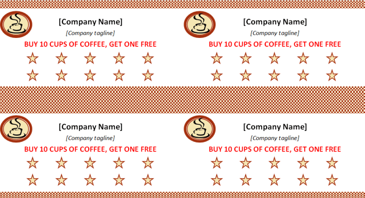 Editable Discount Punch Card Template