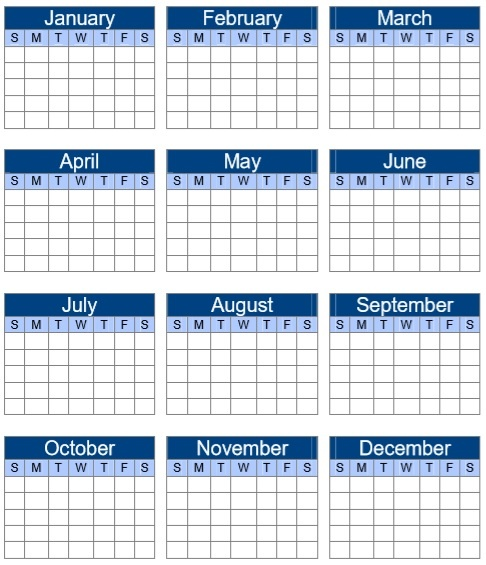 Academic Year Calendar Template