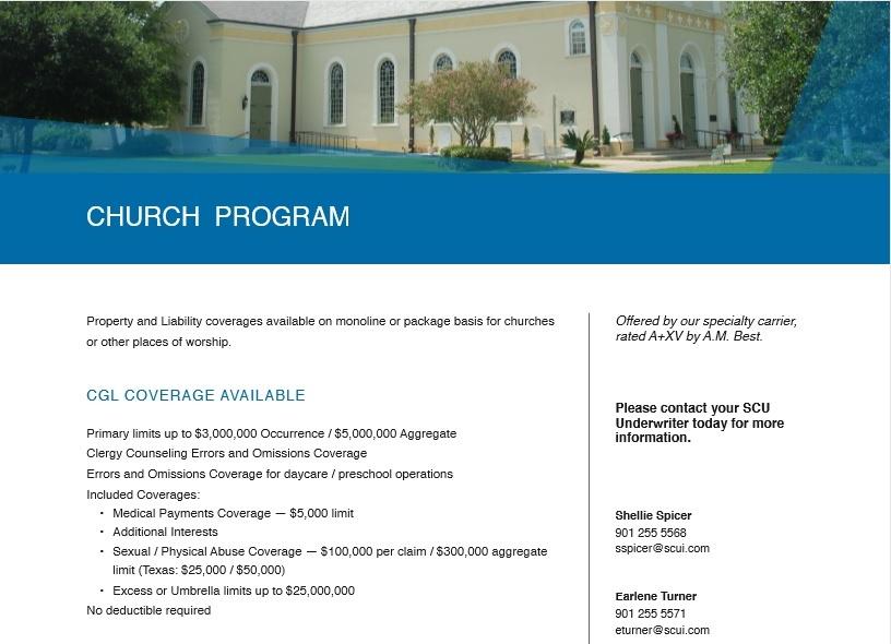 Free Church Program Template Free