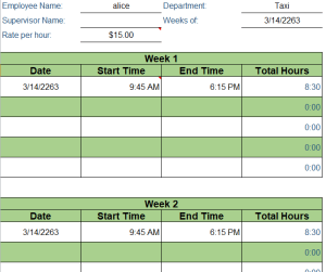 Weekly Timesheet Template Excel 3+ Free 2020 Download