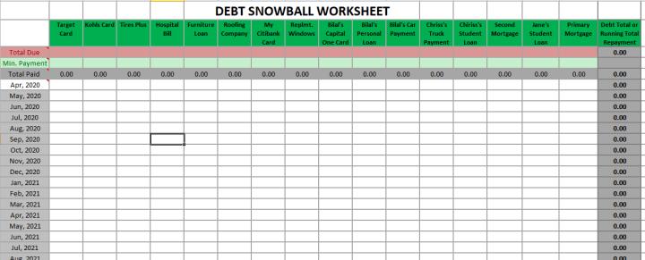 Debt Snowball Spreadsheet Free