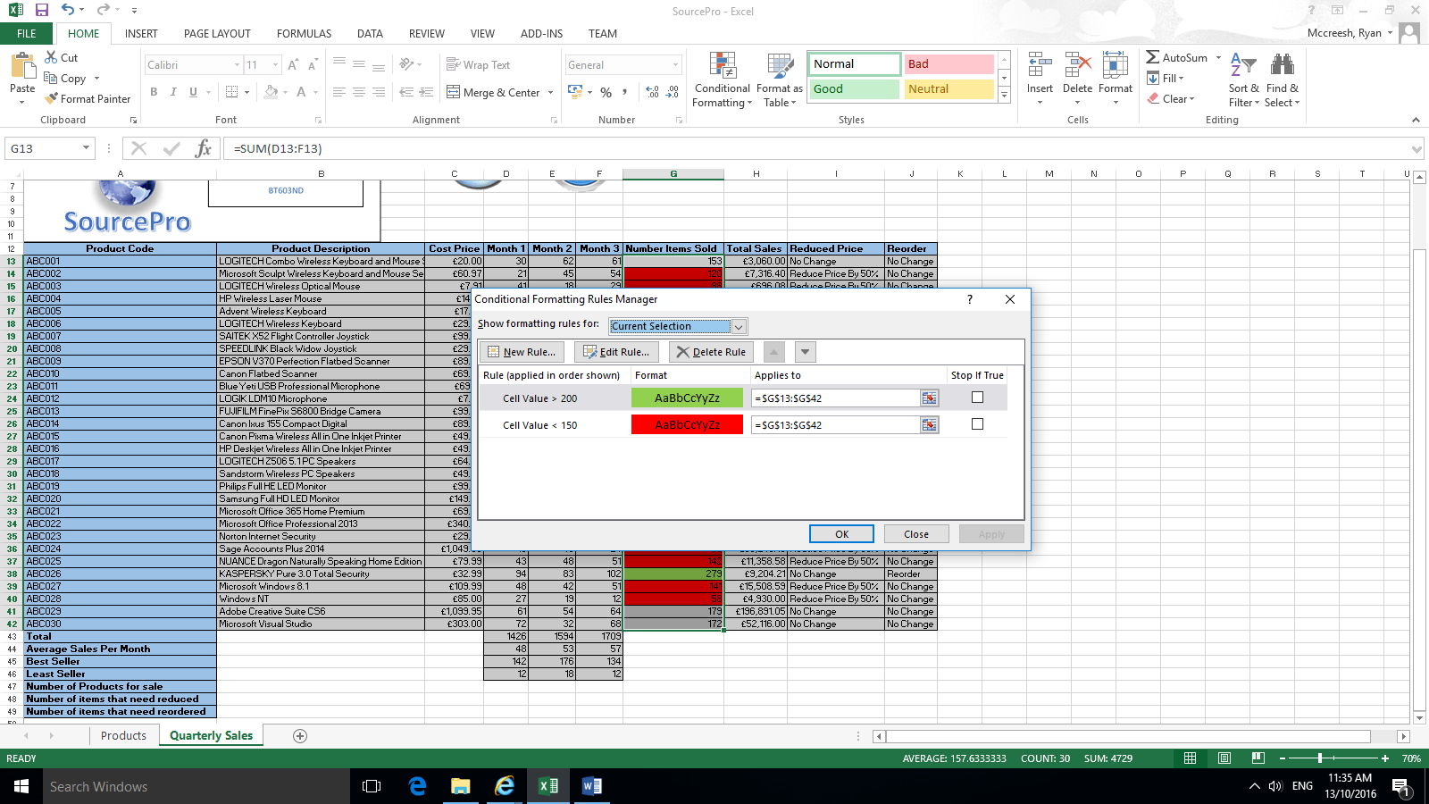 Conditional Formatting Excel Userguide