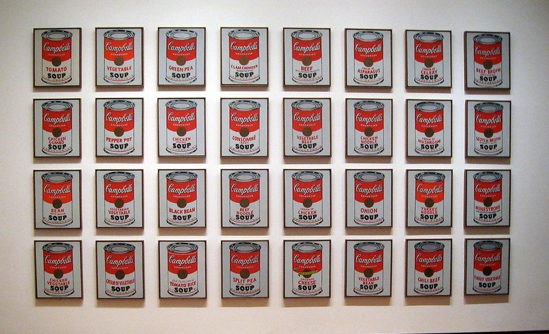 Andy Warhol's thirty-two Campbell's Soup Cans painting.