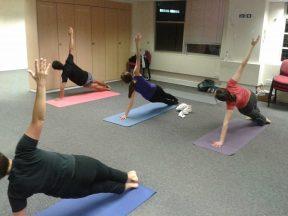 Girlguiding Pilates class for staff