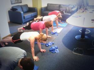 MCF Pilates class in their office
