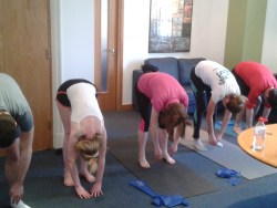 MCF Corporate Finance lunchtime Pilates class