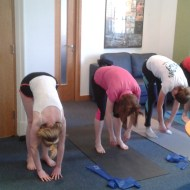 Lunchtime Pilates class for staff at MCF Corporate Finance