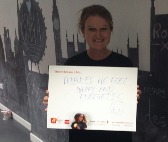 'Makes me feel happy and energetic' What does fitness mean to you?