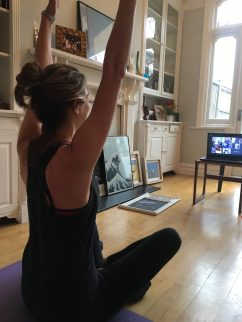 Teaching a live online Pilates class - Exercise in the City Founder Julia Scodie