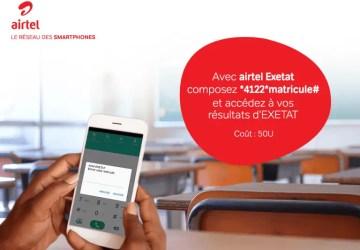 EXETAT : Comment vérifier le résultat avec Airtel RDC