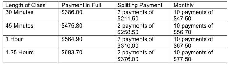 PAYMENT PLAN OPTIONS 2018 2019