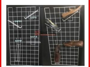 BAPR Exhibidor de Alambre Para Calzado 25x7 Para Reja