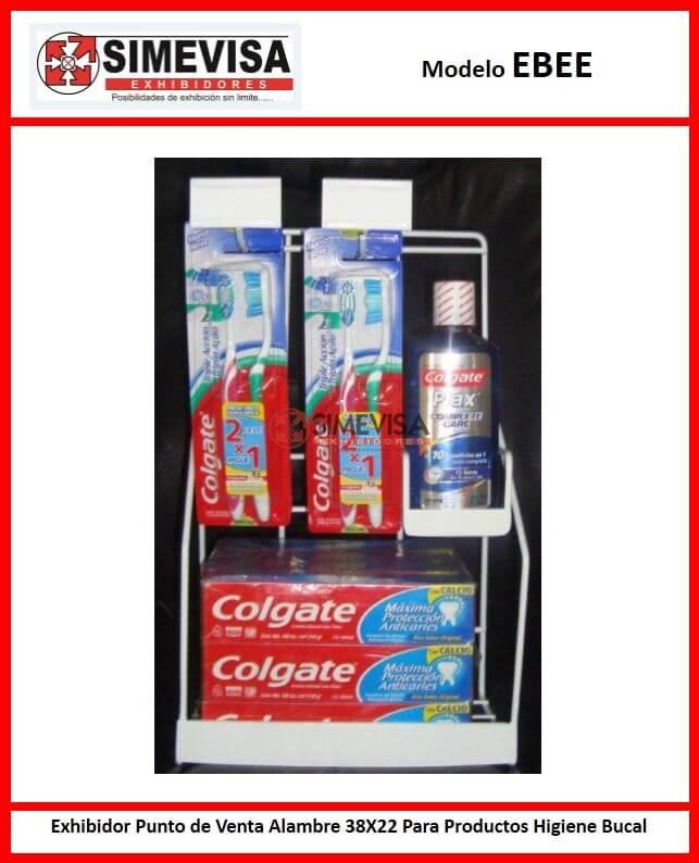 EBEE Exhibidor Punto de Venta Alambre 38X22 Para Productos Higiene Bucal