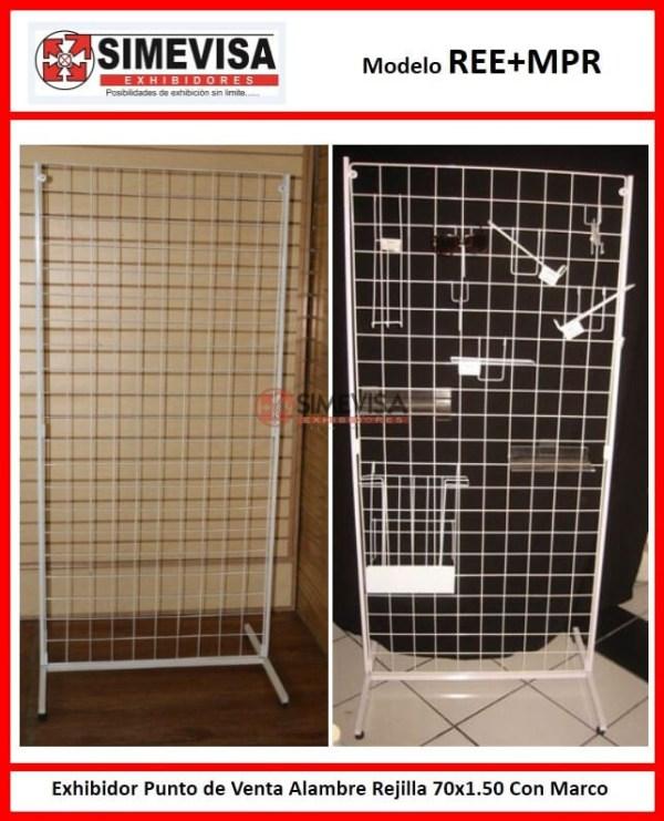 REE+MPR Exhibidor Punto de Venta Alambre Rejilla 70x1.50 Con Marco