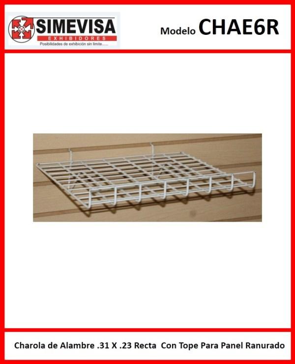 Charola de Alambre .31 X .23 Recta Con Tope Para Panel Ranurado