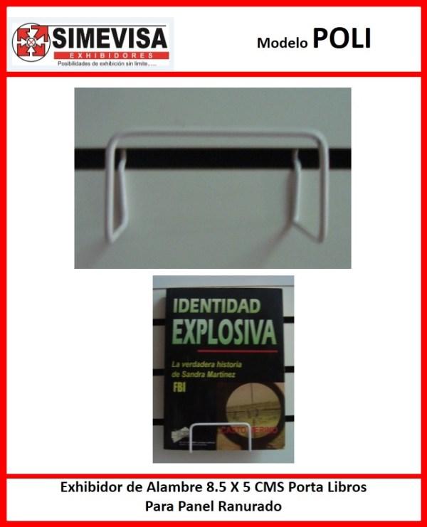 POLI Exhibidor de Alambre 8.5 X 5 CMS Porta Libros