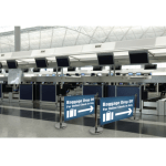 Cafe Barrier Indoor Outdoor Banner Stand System Exhibition Display