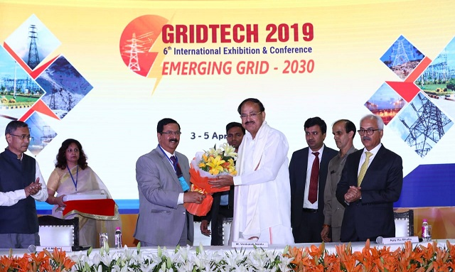 Vice President of India Inaugurates GRIDTECH-2019 - Exhibition Showcase
